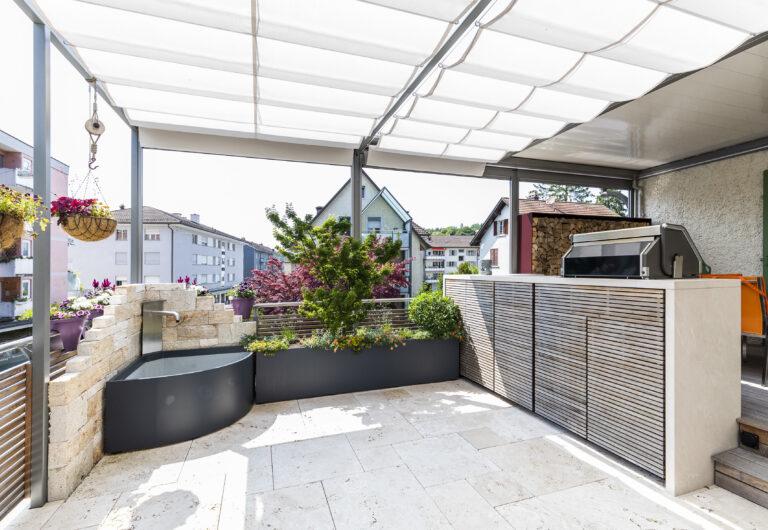 Terrasse mit Aussenküche, Winterthur